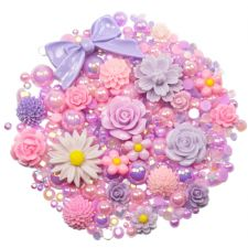 'LILAC ROSE' Theme Rhinestone and Cabochon Mix